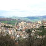 Castropignano (CB) Molise, Italia. Vista borgo antico dal Hotel Palma Costa Gioiosa.