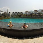 Kids at the main pool
