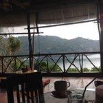 La vista dal ristorante