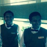 Hugo and Felipe at the World Cafe. First class service, and they are great guys.