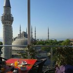 Roof terrace --> Blue Mosque