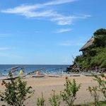 Blick von Oceanfront Bungalow Nr. 10