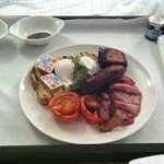 Room service full English breakfast
