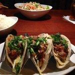 Ahi tacos, pad thai