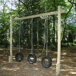 Tyre swings for little and big kids