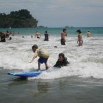 Surfing lessons available at the beach