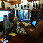 Utamaduni staff readying our purchased goods