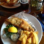 Best Fish & Chips @ Blue Bell Inn