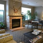 Enjoy a warm fire in our comfortable lobby.