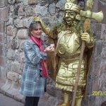 estatua viva em cuzco