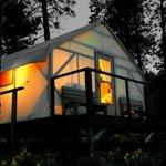 Canvas Cabin at Dusk