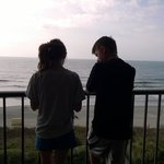 Our Ocean View balcony (son and gf)