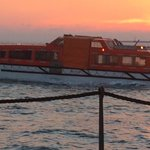 Cruise Boat Lifeboat ... Cruise ship had to return to port for a medical emergency