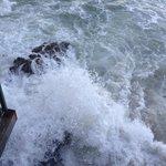 Waves crashing outside the room