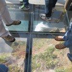 chão de vidro