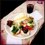 frokost cicchetti og rødvin