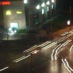 Вид из окна на ночную Софию