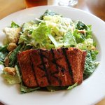 Caesar Salad with Grilled Sockeye Salmon
