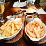 Burgers at The Rockingham Arms