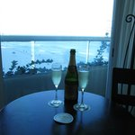 Sparkling wine & view from room 2518