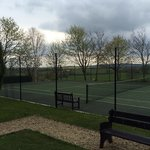 Outdoor tennis courts.