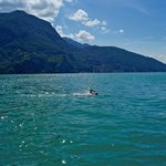 If you like open water swimming, Lugano is your place. Rent safety boat and dive in on hotel gro