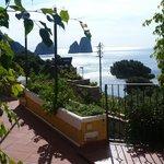 Pool terrace looking towards the Faraglioni