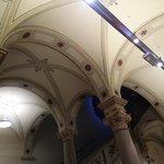 decoração aboboda principal recepção da entrada ao museum