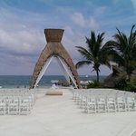 Wedding Ceremony area on the ocean front