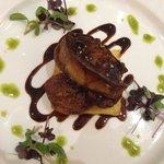 Pan fried Foie gras served on brioche...