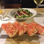 24th April 2014, duck ham salad and tomato flat bread