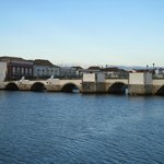 Tavira's 'Roman' Bridge as seen from our table