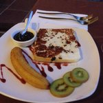 Starter - grilled cheese and banana