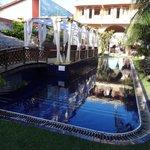 Bela piscina e cenário!!!