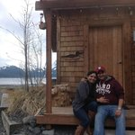 With our cabin