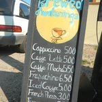 Menu on the side of the road