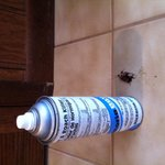 Bug spray under sink too!