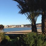 Der Blick auf die platja del arenal vom Zimmer aus