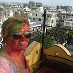 An amazing day at Holi from the Peacock Roof Top Restaurant
