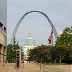 Arch with Old Courthouse in foreground