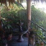 Fountain on terrace
