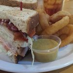 The turkey club sandwich.
