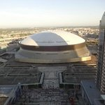 view of Superdome from 32nd floor