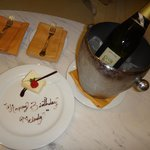 Brought to our room, courtesy of our butler for my girlfriend's birthday