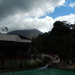 View from the hot pools of the volcano