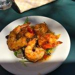 Satsuma pepper glazed shrimp
