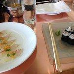fresh sushi at the bar!