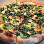 sweet potato, black bean, cilantro, mexican cheese blend pizza