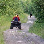 Located directly on ATV and snowmobile trails