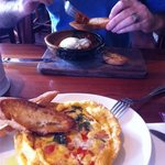 Spanish eggs and Crab Omelette
